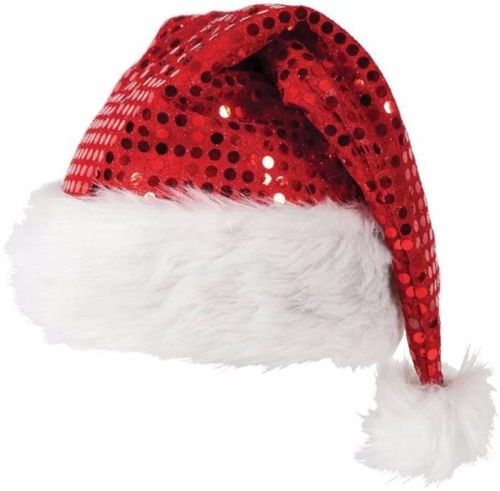 Stylla Unisex Adult Velvet Christmas Cap Christmas DecorationPQN01 Tinsel