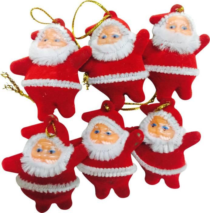 Priyankish Xmas Tree Santa Claus Hanging Ornaments Pack of 6 Price in India - Buy Priyankish Xmas Tree Santa Claus Hanging Ornaments Pack of 6 online at ...