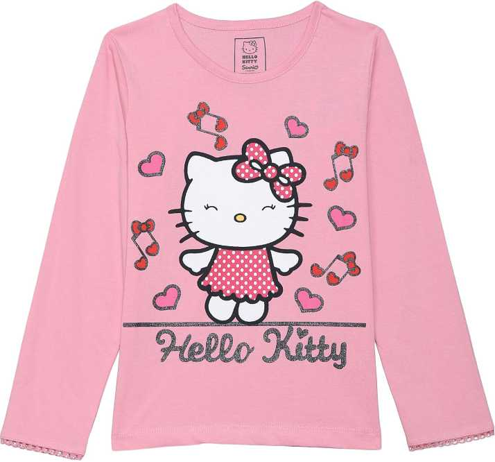 000e08c99 Hello Kitty Girl's Graphic Print Cotton T Shirt Price in India - Buy ...