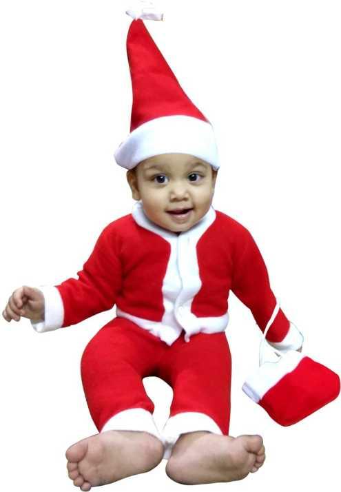 ec6f516f312b Kavya Creation Christmas Santa Claus Dress for Boys (Age 0-10 Month) Xmass  Kids Costume Wear Price in India - Buy Kavya Creation Christmas Santa Claus  Dress ...