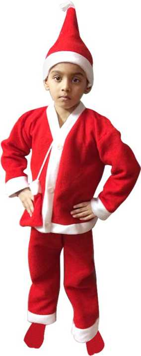 b6e6f4f3a41 Kavya Creation Christmas Santa Claus Dress For Boys (Age 7 - 9 Year) Xmass  Kids Costume Wear