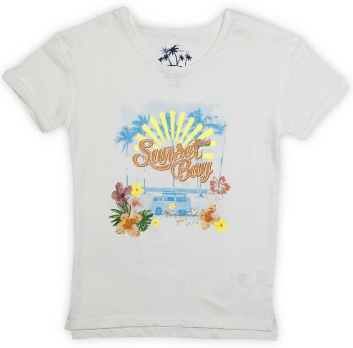 e636b05b2 Lee Cooper Girl's Printed Cotton T Shirt Price in India - Buy Lee ...