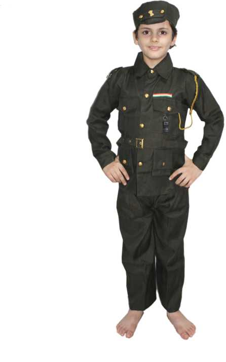 898880877d3 Kaku Fancy Dresses Indi Indian Army Our Helper/National Hero Costume ...