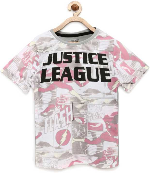 a8a951e291 YK Justice League Boys Printed Cotton T Shirt Price in India - Buy ...