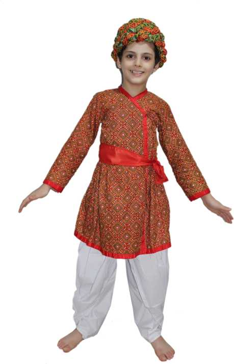 3d5075af20 Kaku Fancy Dresses Indi Red Color Rajasthani Boy,Indian State Traditional Wear  Costume For Republic Day/Independence Day/ School Annual Function/Theme ...