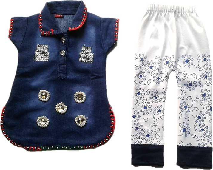 619ed5a6c Wardrobe fashion Girls Party(Festive) Top Pyjama Price in India ...