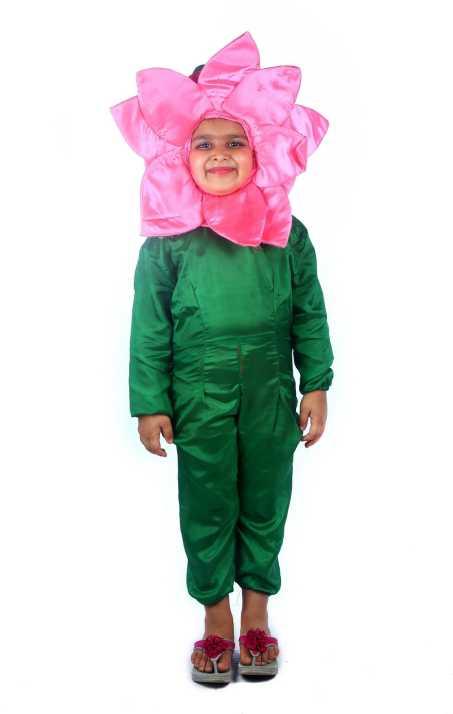 Sbd Pink Lotus Flower Fancy Dress Costume For Kids Kids Costume Wear