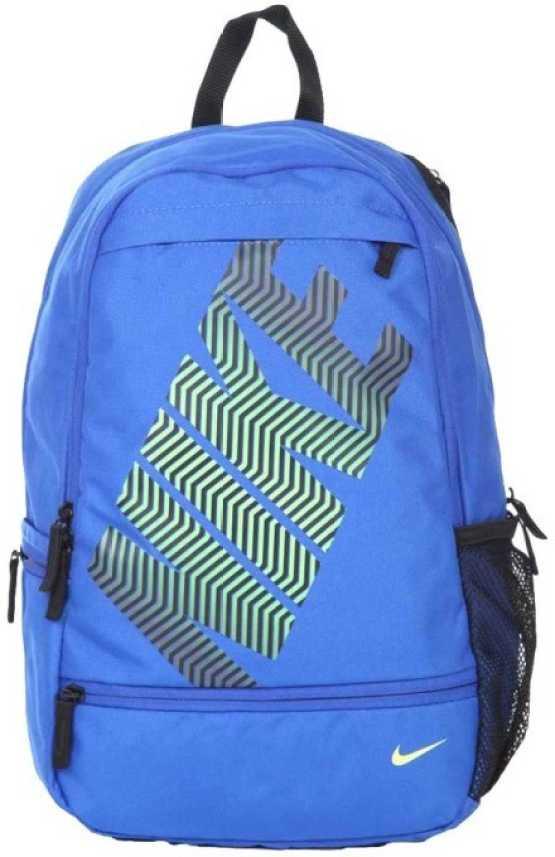 Drástico Amarillento Muchos  Nike Classic Line 21 L Backpack Blue, Black - Price in India | Flipkart.com
