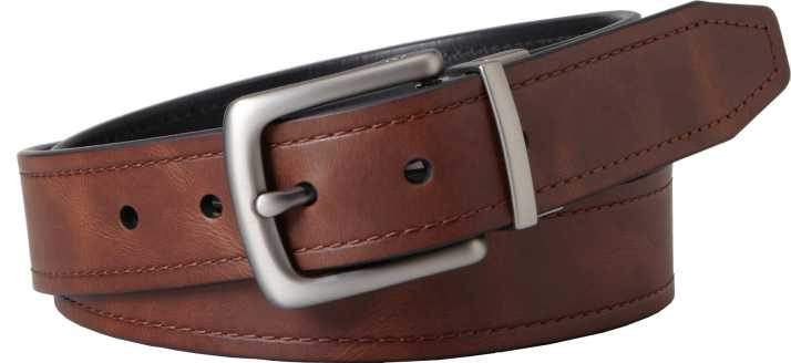 Fossil Men Casual Brown Genuine Leather Belt Brown Price In India Flipkart Com