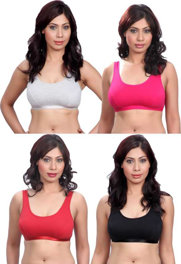 d86462aaf2 Selfcare New Combination Of Colors Women s Sports Bra - Buy Grey ...
