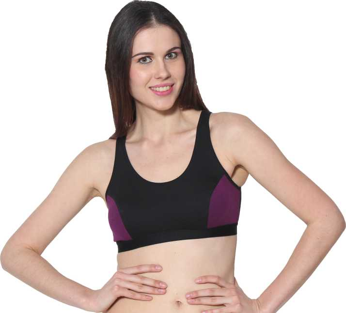 127fdd7f29af3 Prestitia byPRESTITIA Women s Sports Bra - Buy Purple Prestitia ...