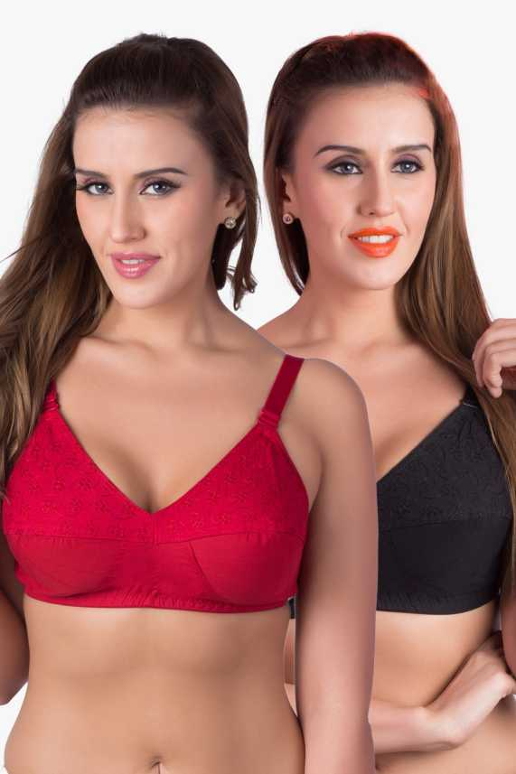 22e8332a11e Rajnie byBelle Lingeries Plus-Size Women s Full Coverage Non Padded Bra -  Buy Black