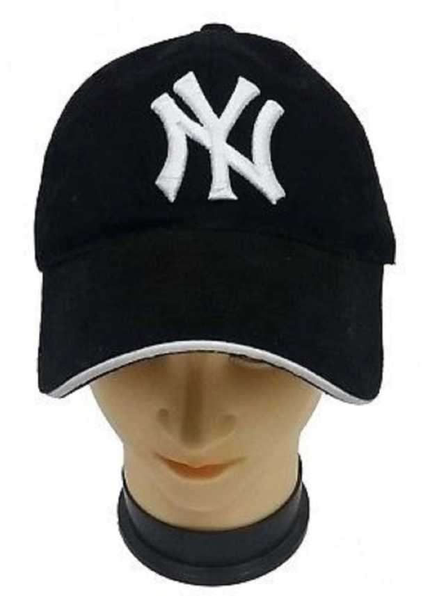 bb989563744c3 FAS Solid Ny Baseball Cap   Snapback Cap - Buy black FAS Solid Ny Baseball  Cap   Snapback Cap Online at Best Prices in India