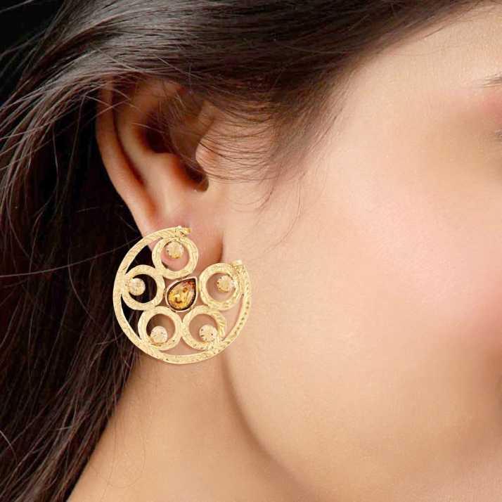 Flipkart Com Buy I Jewels Gold Plated Traditional Alloy Chandbali