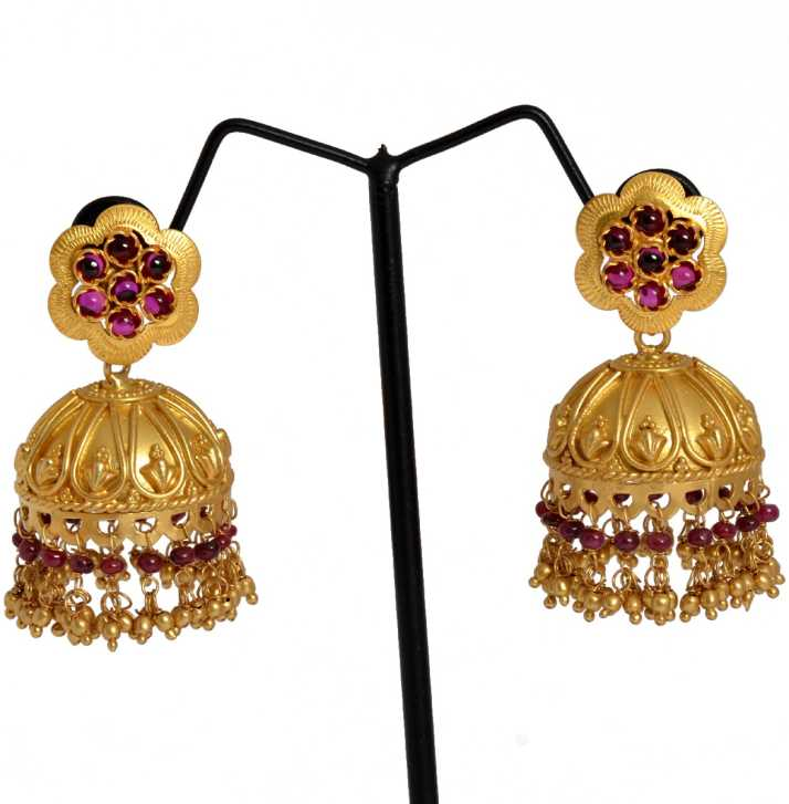 3ab796d5e Flipkart.com - Buy Chandukaka Saraf Style Divine Silver Jhumki ...