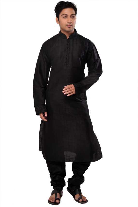 925884c670 Manyavar Men Kurta and Churidar Set - Buy Black Manyavar Men Kurta and Churidar  Set Online at Best Prices in India | Flipkart.com