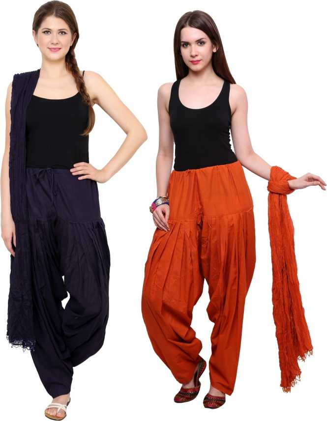 74f46f148a02e1 Pistaa Women Patiala and Dupatta Set - Buy Navy Blue, Rust Pistaa Women  Patiala and Dupatta Set Online at Best Prices in India | Flipkart.com