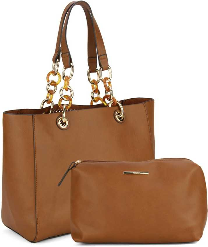 7af04d8ebe4 Buy ALDO Tote Tan W Lt Gold Hw Online   Best Price in India ...