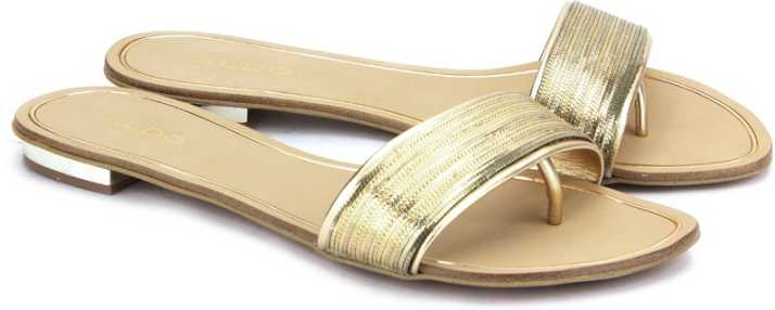 60664b4892a ALDO Women Gold Flats - Buy Gold Color ALDO Women Gold Flats Online ...