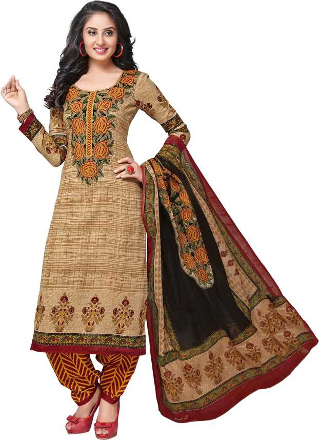 2cd6fed4ca SuitsOn Cotton Printed Salwar Suit Dupatta Material Price in India - Buy  SuitsOn Cotton Printed Salwar Suit Dupatta Material online at Flipkart.com