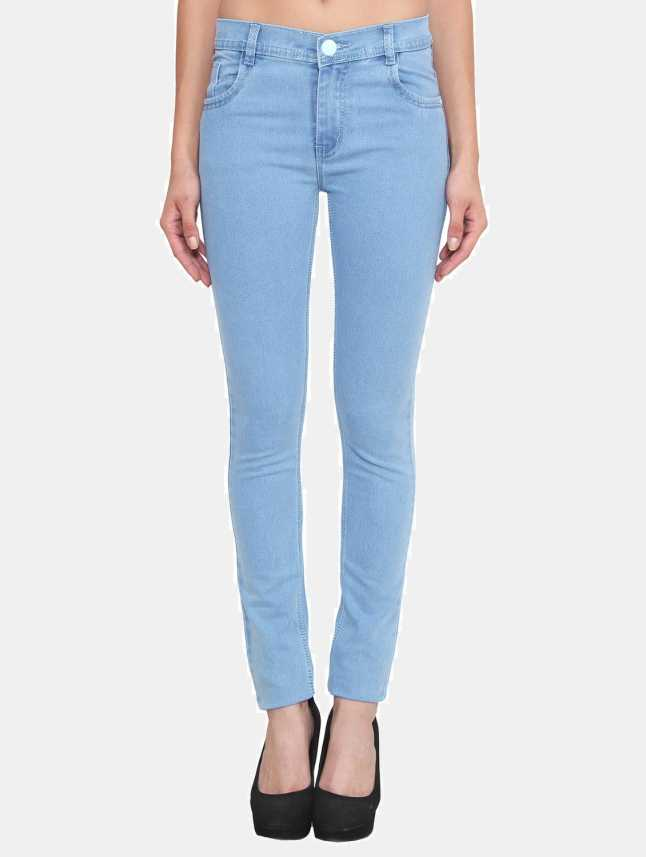 0f41e1cca Crease   Clips Slim Women s Light Blue Jeans - Buy ICE Crease   Clips Slim  Women s Light Blue Jeans Online at Best Prices in India