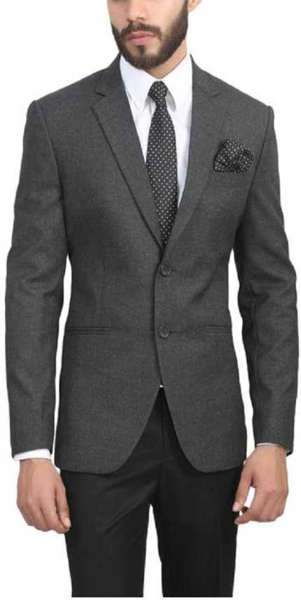 bd4133a3169 ManQ Solid Single Breasted Formal, Wedding Men Blazer - Buy Charcoal Grey  ManQ Solid Single Breasted Formal, Wedding Men Blazer Online at Best Prices  in ...