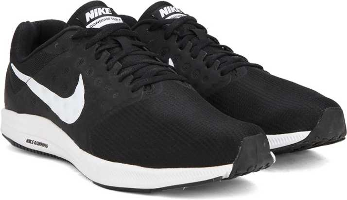estilo único precio competitivo otra oportunidad Nike DOWNSHIFTER 7 Running Shoes For Men - Buy BLACK / WHITE ...