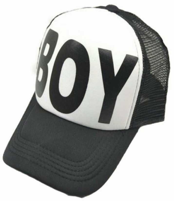 48ba675ba Friendskart Printed In White Colour Boy Cap Half Net Cap,Trucker Cap For  Men's,Women's,Boys,Girls Cap