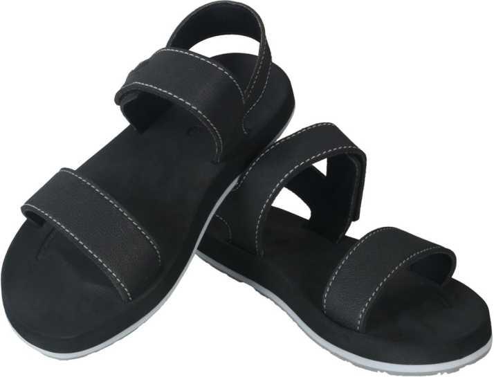 6a0bd878083c0 KITO Men Black Sandals - Buy KITO Men Black Sandals Online at Best ...