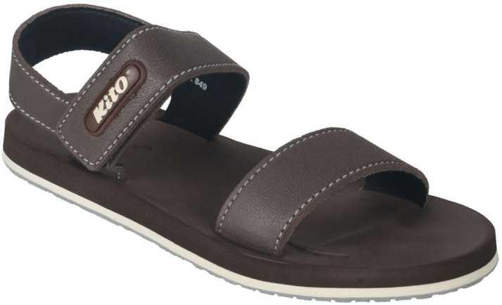 b9c808fb56b96 KITO Men Brown Sandals - Buy KITO Men Brown Sandals Online at Best ...