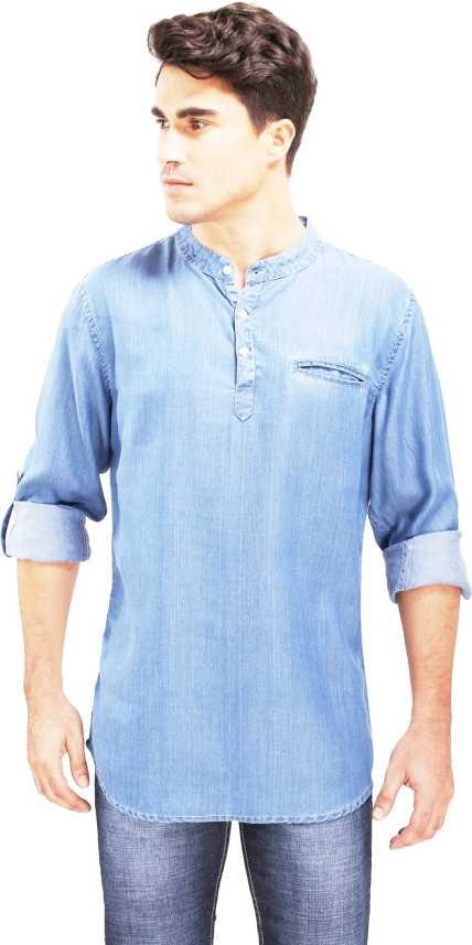 1b0515f906b Bombay Casual Jeans Men Self Design Straight Kurta - Buy Bombay ...