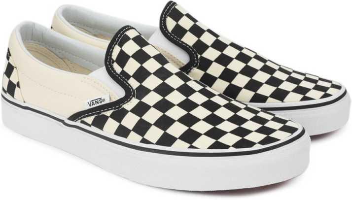 ec54eb11f27e Vans CLASSIC SLIP-ON Loafers For Men - Buy BLACK AND WHITE CHECKER ...