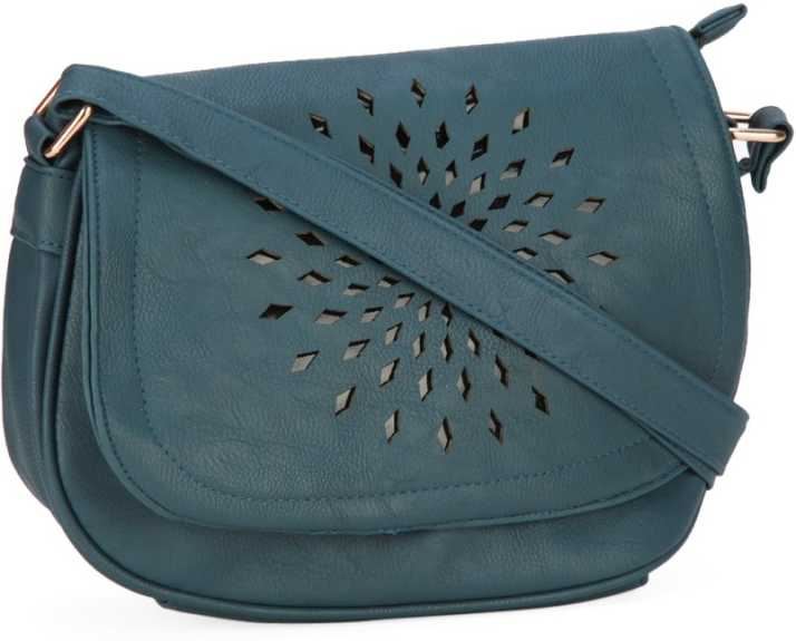 2d4da6d15ef People Women Casual Blue PU Sling Bag Blue - Price in India ...