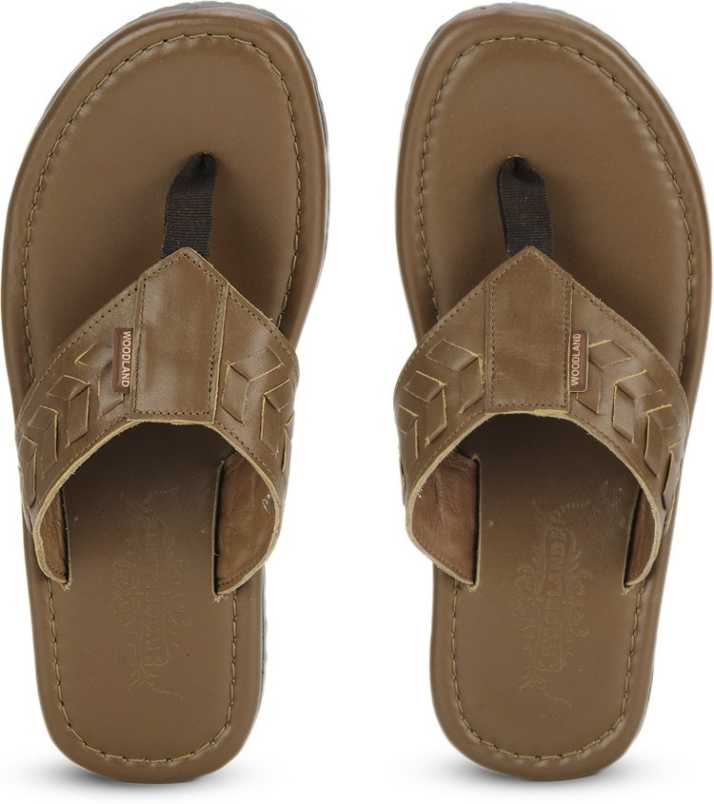 c244a41918a3 Woodland Leather Flip Flops - Buy TAN Color Woodland Leather Flip Flops  Online at Best Price - Shop Online for Footwears in India
