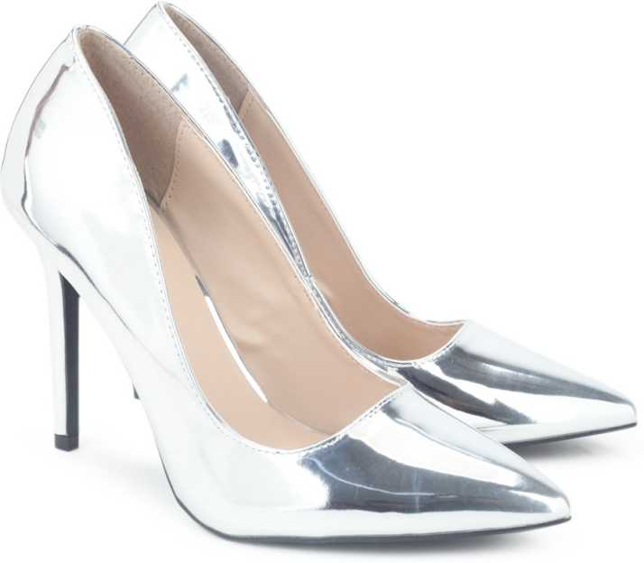 6cd65d38a6f QUPID Women SVSMT Heels - Buy SILVER Color QUPID Women SVSMT Heels Online at  Best Price - Shop Online for Footwears in India