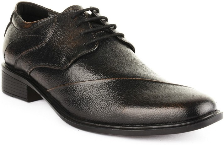 Buckle Up Formal Leather Shoes Lace Up