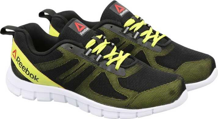 95ce0270e7a36 REEBOK SUPER LITE Running Shoes For Men - Buy BLACK SEMI SOLAR YLLW ...