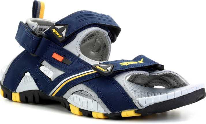 5618b1246d0 Sparx Men Navy Blue Yellow Sandals - Buy Sparx Men Navy Blue Yellow Sandals  Online at Best Price - Shop Online for Footwears in India