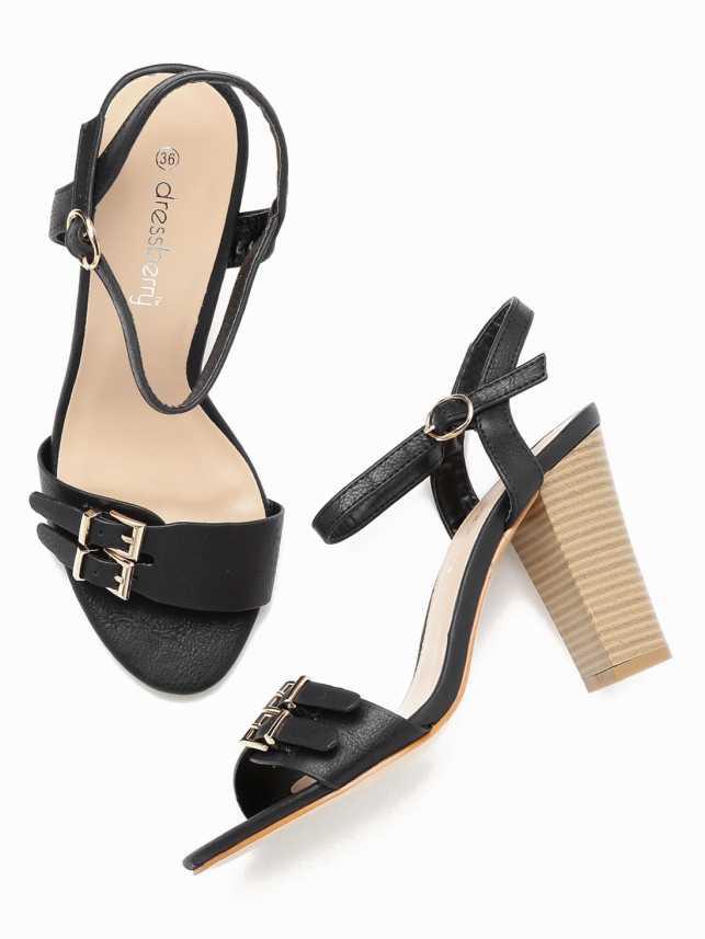 71acfa2fd114 Dressberry Women Black Heels - Buy Dressberry Women Black Heels Online at  Best Price - Shop Online for Footwears in India