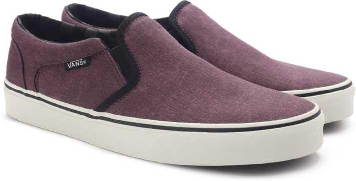 2213ce35e35639 Vans ASHER Loafers For Men - Buy (WASHED CANVAS) PORT Color Vans ...