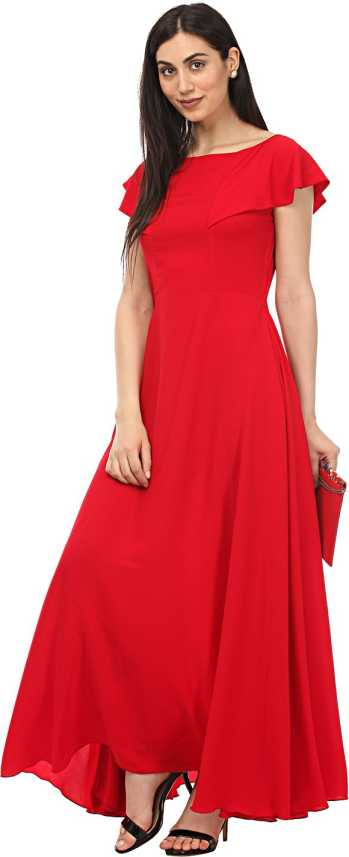 fb530dfa46 Lady Stark Women Maxi Red Dress - Buy Lady Stark Women Maxi Red Dress Online  at Best Prices in India | Flipkart.com