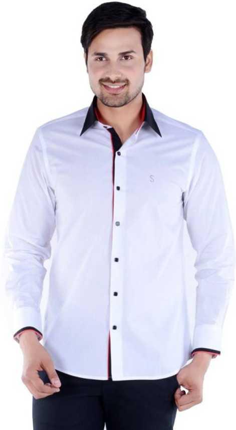 01fe72614b9 S9 Fashion Men Solid Casual White Shirt - Buy S9 Fashion Men Solid ...