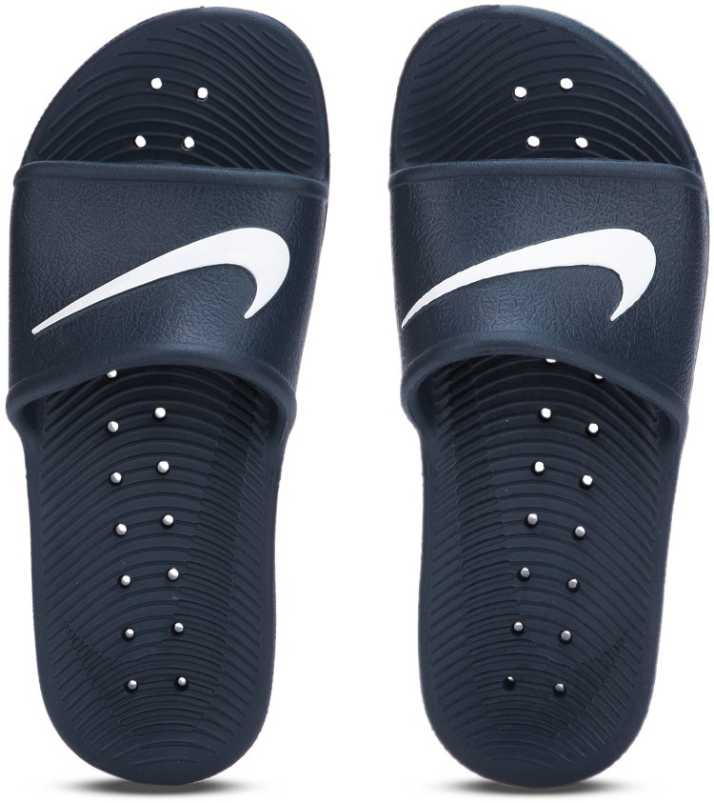 693b8f43b Nike KAWA SHOWER Slides - Buy MIDNIGHT NAVY WHITE Color Nike KAWA SHOWER  Slides Online at Best Price - Shop Online for Footwears in India