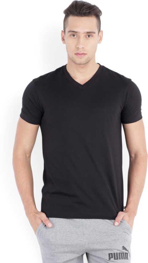 promo code 1cea9 430df Jockey Solid Men V-Neck Black T-Shirt