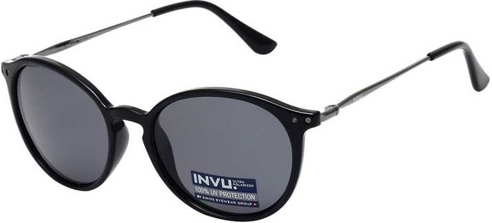 945930563e88d Buy Invu Round Sunglasses Grey For Women Online   Best Prices in India