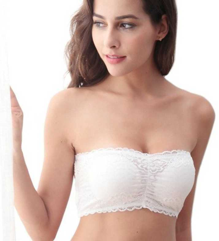 0b2bb24511 ... Bandeau Net Fancy Lace Tube Bra (Soft Removable Foam Pads) Multiple  Straps Padded Bandeau Tube Bra (removable pads) Women Tube Lightly Padded  Bra - Buy ...