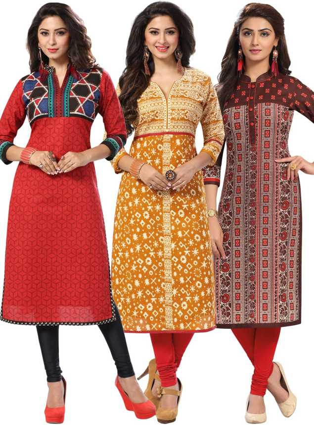 Salwar Studio Cotton Blend Printed Kurta Fabric Price in India - Buy