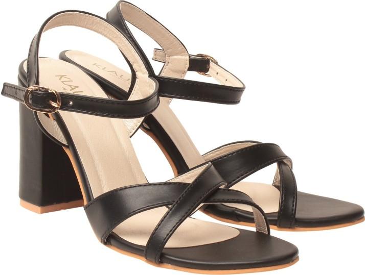 Klaur Melbourne Women Black Heels - Buy