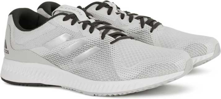 new arrival eb27a 3a70a ADIDAS AEROBOUNCE RACER M Running Shoes For Men (Grey, Black)
