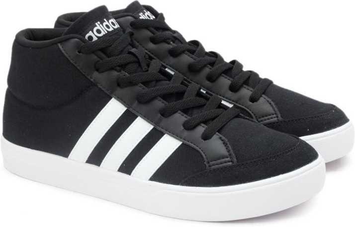 2733e5177 ADIDAS NEO VS SET MID Tennis Shoes For Men - Buy CBLACK FTWWHT ...